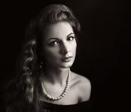 ретро женщина стоковые фотографии rf