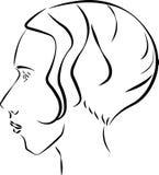 ретро женщина Стоковые Изображения RF