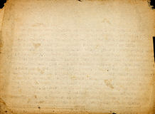 Ретро запятнанная бумага с напечатанным текстом Стоковые Фотографии RF