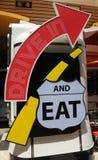 Ретро знак обедающего стоковая фотография