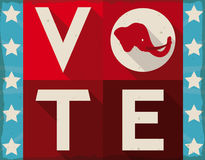 Ретро знак повысить американское People& x27; голосование для республиканцев, иллюстрация s вектора Стоковое Изображение