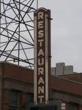 Ретро знак ресторана Стоковое Фото