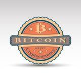 Ретро значок с символом монетки бита Стоковые Фото