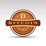 Ретро значок с символом монетки бита иллюстрация штока