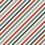 Ретро диагональ цветов stripes абстрактная предпосылка Тонкая наклоняя линия обои Безшовная картина с классическим мотивом Стоковые Фотографии RF