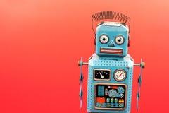 ретро игрушка робота олова Стоковое Фото