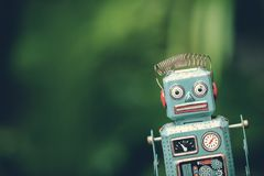 Ретро игрушка робота Стоковые Фотографии RF