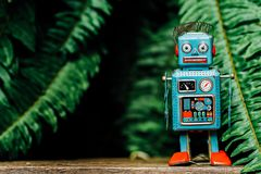 Ретро игрушка робота Стоковые Фото