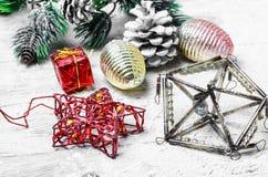 Ретро игрушка рождества Стоковые Фотографии RF