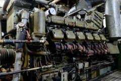 Ретро дизель двигателя космического корабля Стоковое фото RF