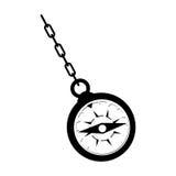 Ретро изображение значка компаса Стоковые Изображения