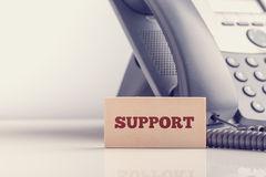 Ретро изображение концепции поддержки телефона дела Стоковые Фотографии RF