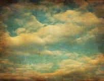 Ретро изображение пасмурного неба Стоковое Изображение