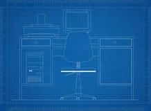 Ретро изолированная светокопия офиса - Стоковое Изображение