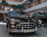 Ретро лимузин автомобиля, музей истории экспоната, Екатеринбург, Россия, 06 09 2014 года Стоковое Фото