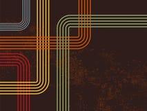 Ретро линии 70s 80s Стоковое Изображение