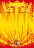Ретро испанское письмо солнечных лучей Стоковые Изображения RF