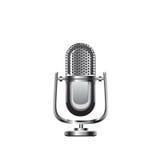 Ретро иллюстрация вектора микрофона Стоковая Фотография