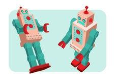 Ретро иллюстрация вектора робота Стоковые Фото