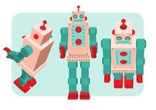 Ретро иллюстрация вектора робота Стоковое Изображение