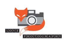 Ретро иллюстрация лисы с камерой Стоковое Изображение RF