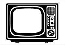 Ретро иллюстрация Tv на белизне Стоковая Фотография
