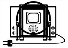 Ретро иллюстрация Tv на белизне Стоковое фото RF