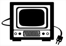 Ретро иллюстрация Tv на белизне Стоковые Изображения RF