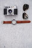 Ретро камера Стоковая Фотография