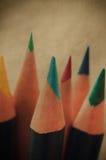 Ретро карандаши искусства Стоковые Изображения RF