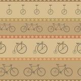 Ретро картина велосипеда, предпосылка битника Стоковые Изображения