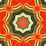 Ретро картина в оранжевых тонах, винтажная текстура этнические орнаменты Цветок Стоковые Фотографии RF