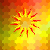Ретро картина геометрических форм Стоковые Изображения RF