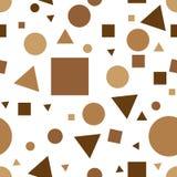 Ретро картина Мемфиса - безшовная предпосылка Безшовная абстрактная геометрическая картина в ретро стиле Мемфиса, моде 80-90s Рет Стоковые Фотографии RF