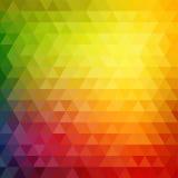 Ретро картина мозаики геометрических форм треугольника Стоковые Изображения RF