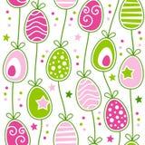 Ретро картина пасхальных яя безшовная иллюстрация вектора