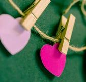 Ретро карточка дня Valentines Стоковые Изображения
