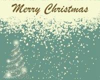 Ретро карточка рождества (Новый Год) иллюстрация штока