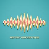 Ретро карточка с ядровой формой волны Стоковые Фото
