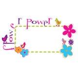 ретро карточки флористическое Стоковое Изображение