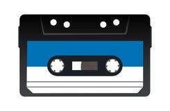 Ретро кассета ленты звукозаписи также вектор иллюстрации притяжки corel Стоковое Изображение RF