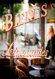 Ретро кафе улицы Парижа Стоковые Фотографии RF