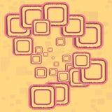 ретро квадраты Стоковое фото RF