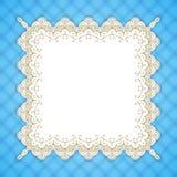 Ретро квадратная рамка шнурка Стоковые Изображения