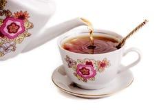 Ретро керамическая чашка Стоковая Фотография