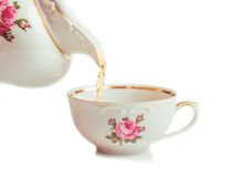Ретро керамическая чашка Стоковое Изображение
