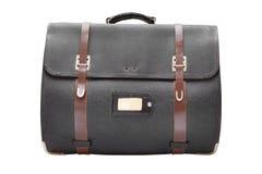Ретро кожаная изолированная сумка satchel, Стоковое фото RF