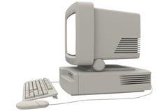Ретро компьютер стоковое фото