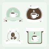 Ретро комплект кофе бесплатная иллюстрация