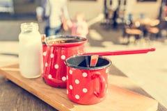 Ретро комплект кофе Стоковое Изображение